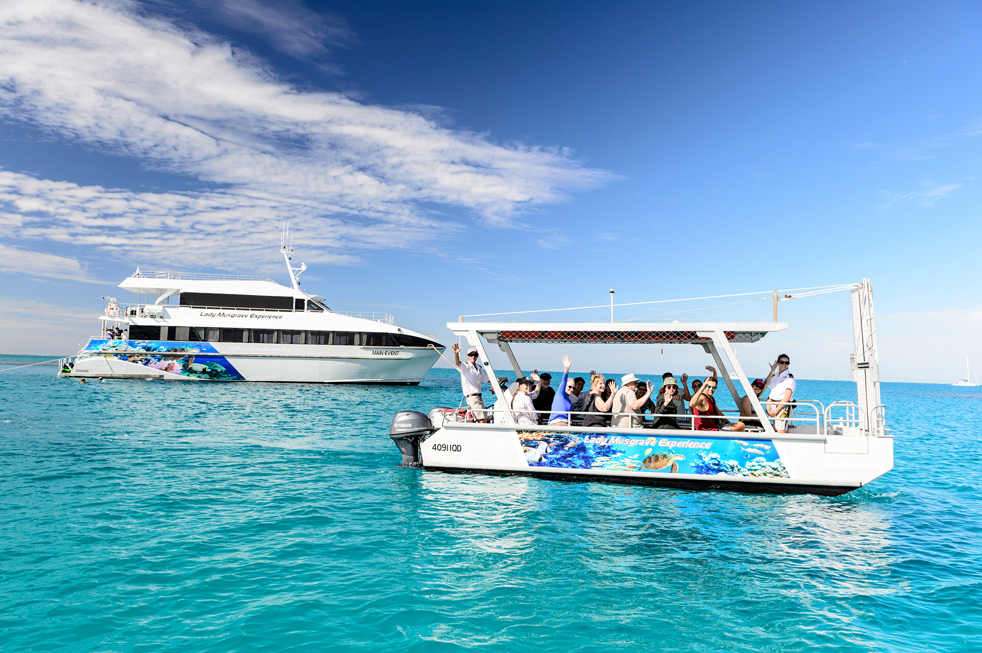 Main Event Southern Great Barrier Reef - Luxury Boat Charters and Tours